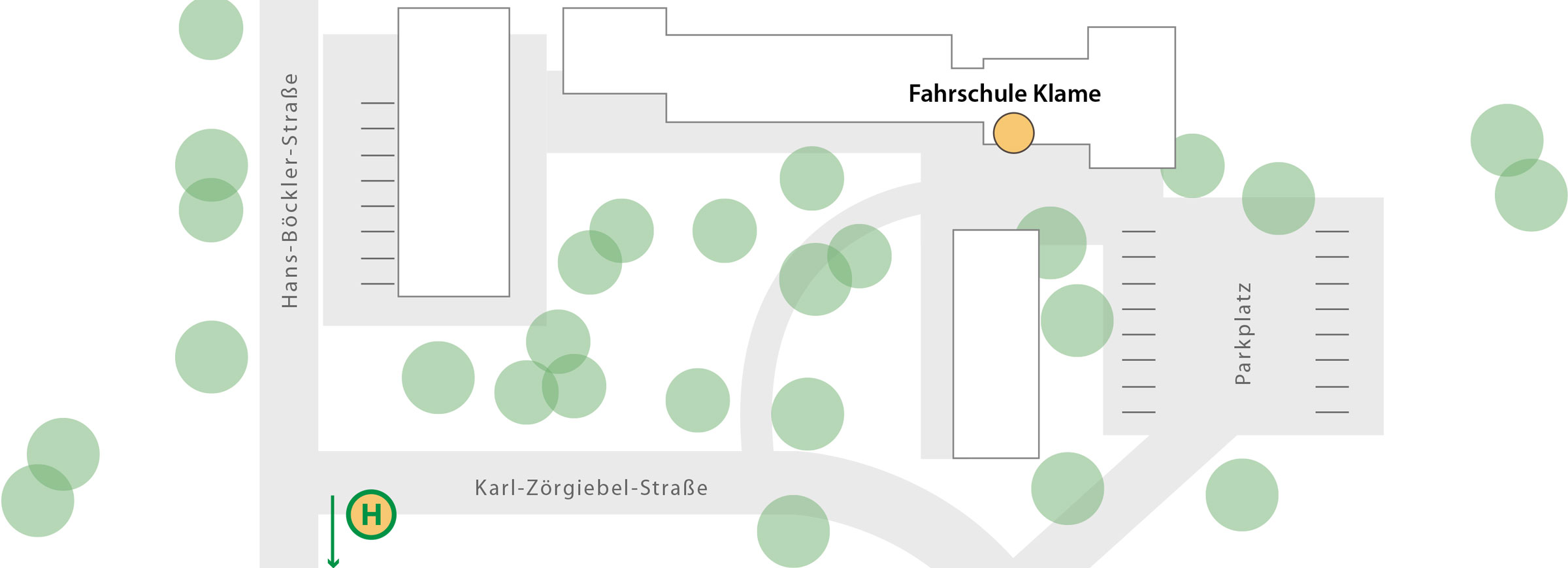 Fahrschule Klame Lageplan